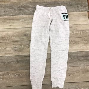 Pink white/light gray marled joggers size small